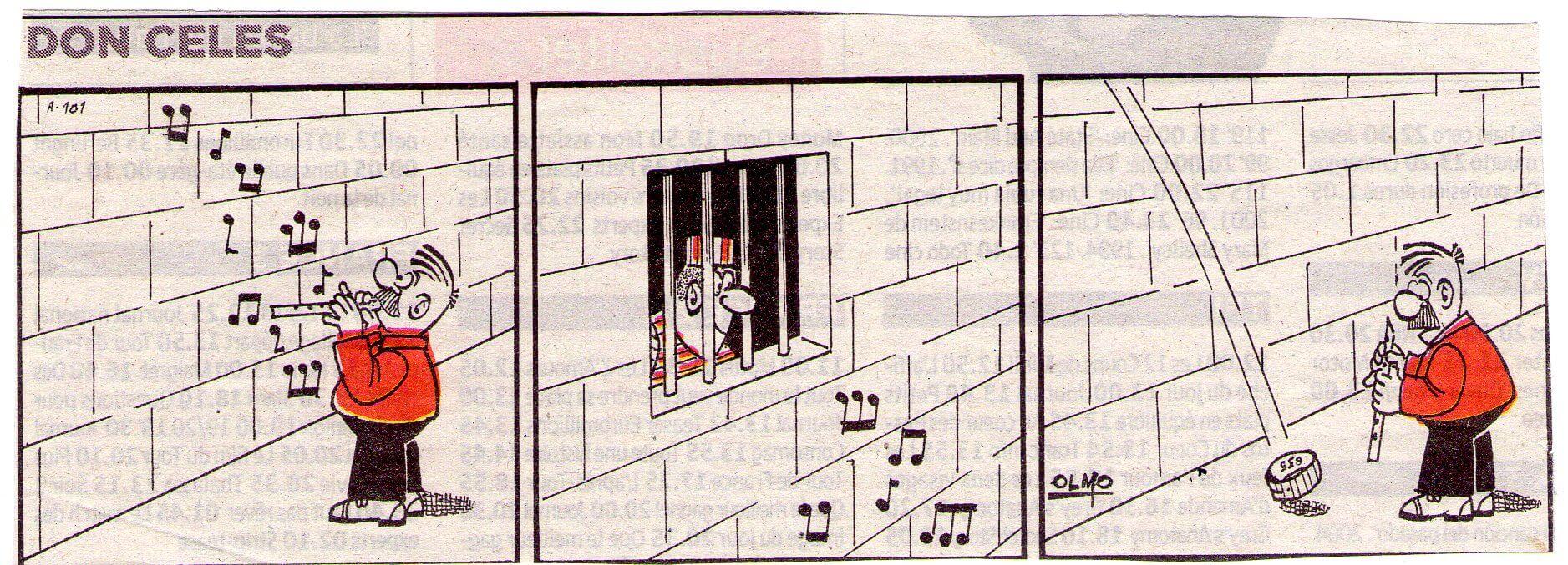 Don Celes tocando para los presos