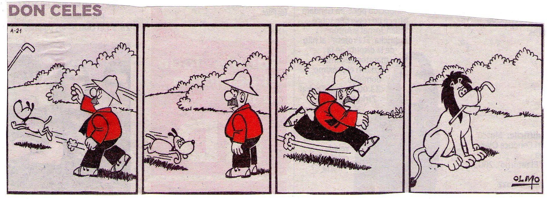 Don Celes buscando el palo