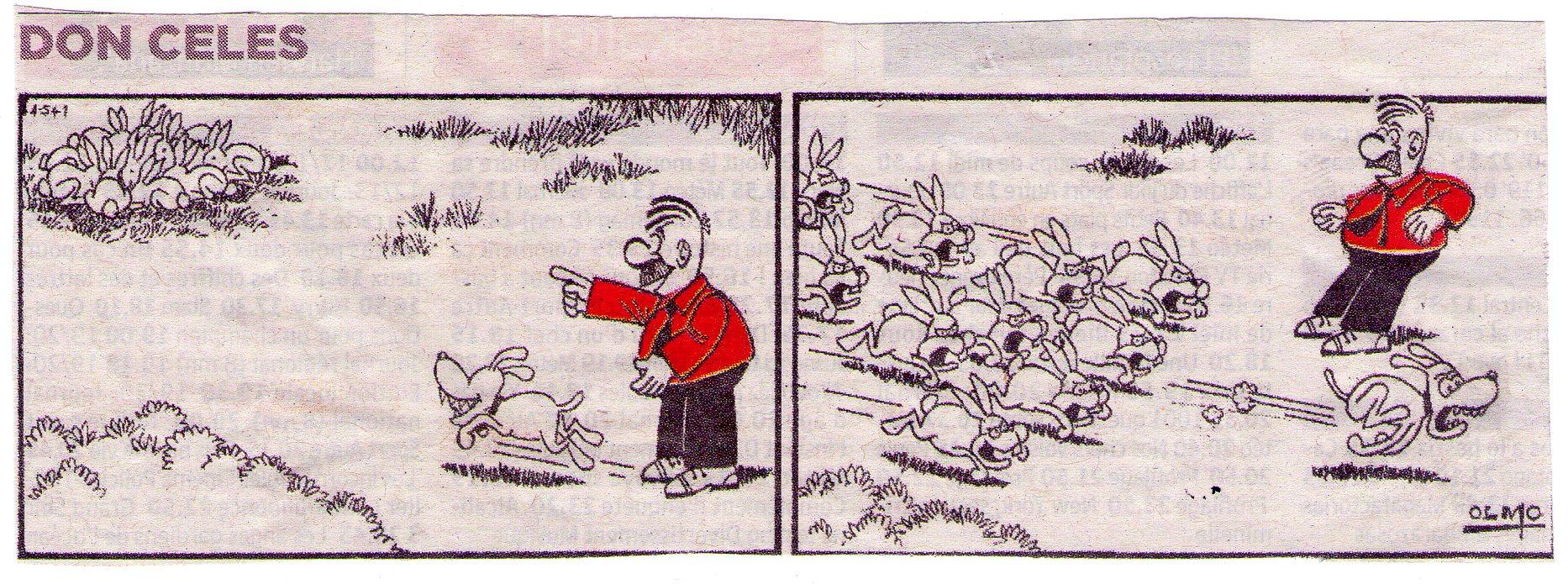Don Celes un perro y unos conejos agresivos