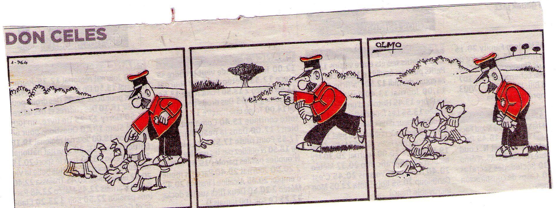 Don Celes y sus perros busca guantes