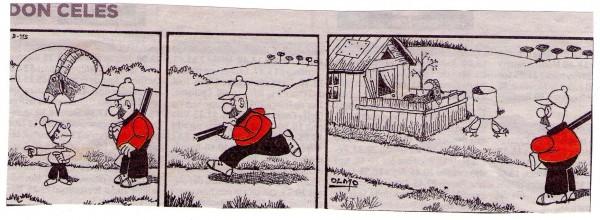 Don Celes de caza a la granja