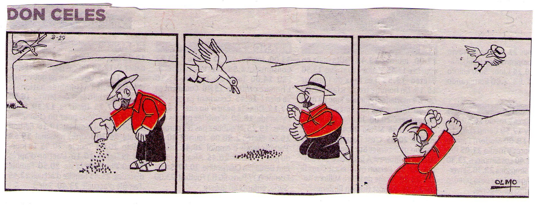 Don Celes pierde su sombrero