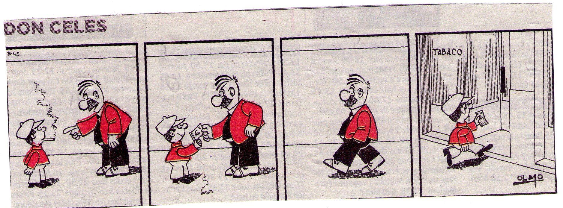 Don Celes a un niño: ¡Fumar es malo!