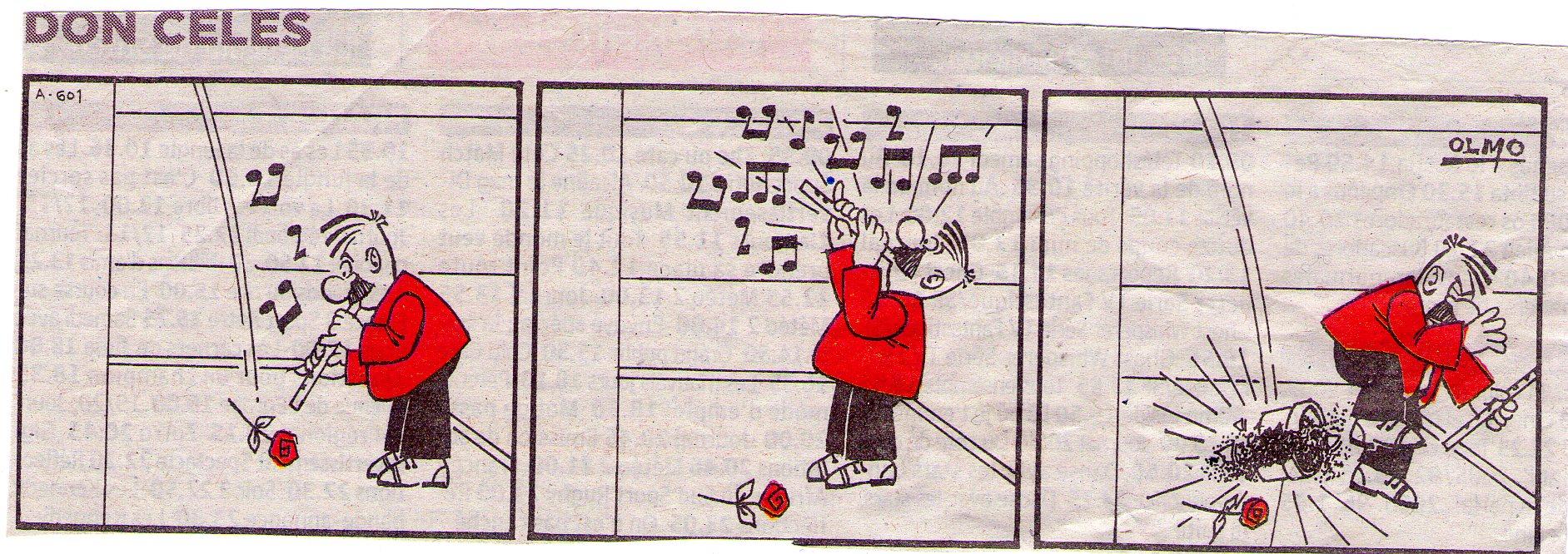 Don Celes tocando la flauta