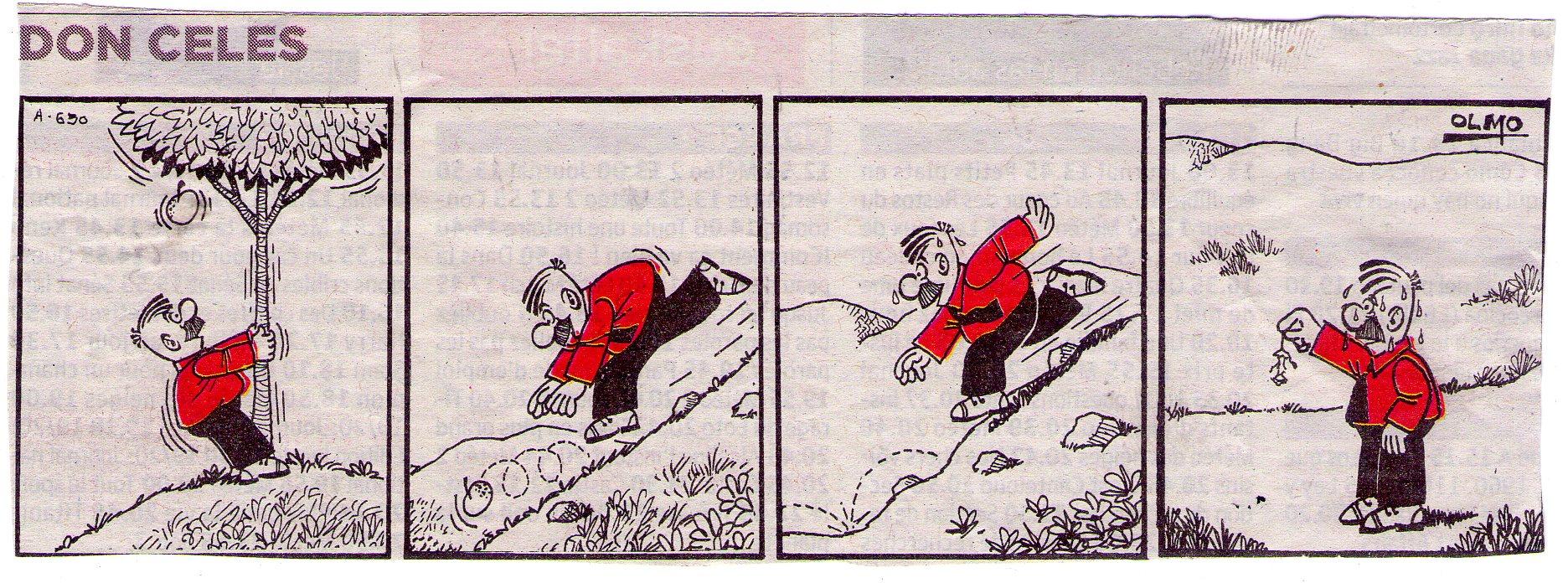 Don Celes corre tras la manzana