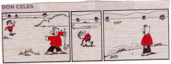 Don Celes lanza su bastón a un niño