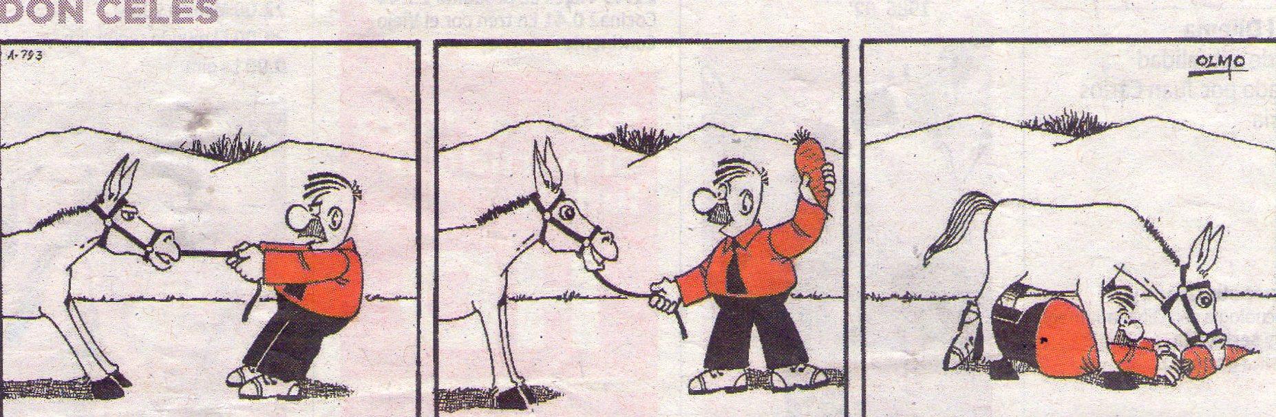 Don Celes Ofrece Una Zanahoria Al Burro Don Celes Carovius La fábula del burro y la zanahoria narra la historia de un burro con una zanahoria delante que nunca llega a coger. don celes ofrece una zanahoria al burro