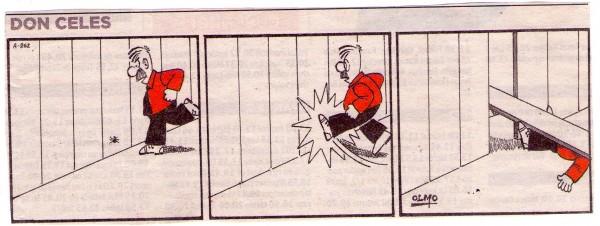 La araña le gasta una broma pesada a Don Celes