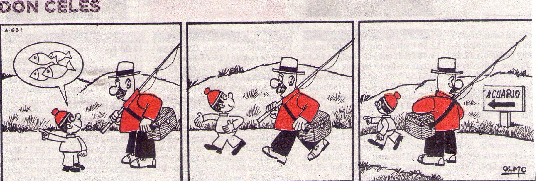 A Don Celes le enseñan donde pescar
