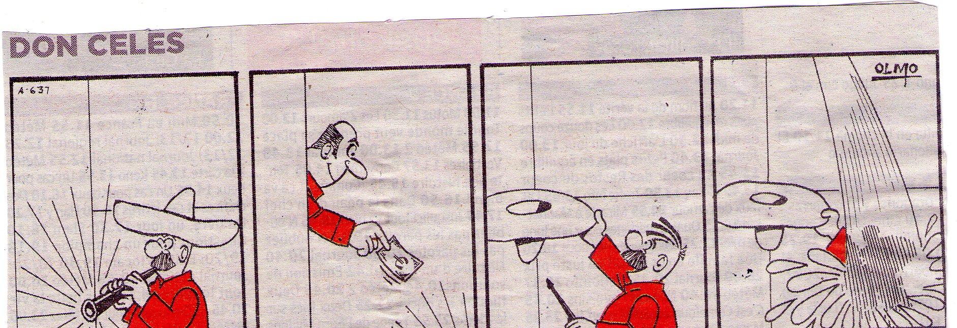 A Don Celes le tiran agua en vez de dinero