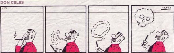 Don Celes se asusta al ver en el humo del puro una calavera