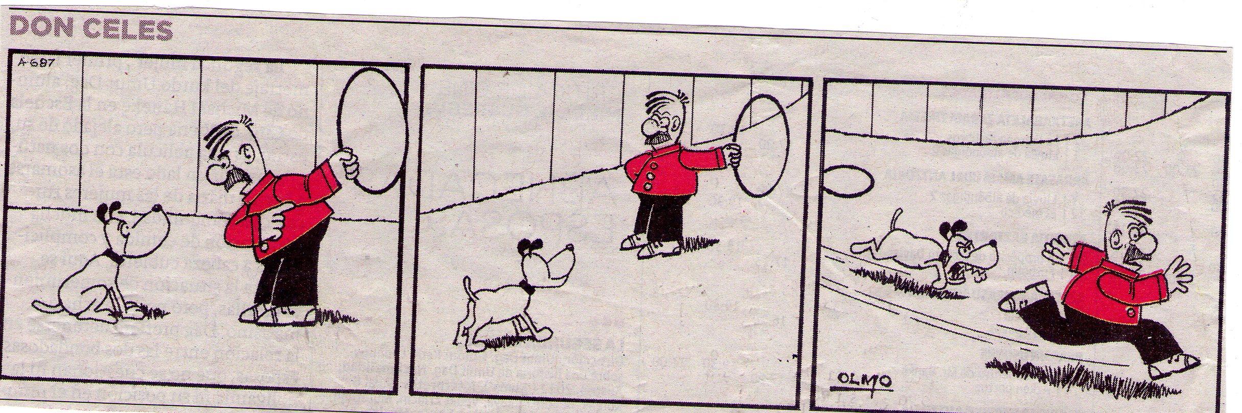 Don Celes hace de domador y es atacado por el perro