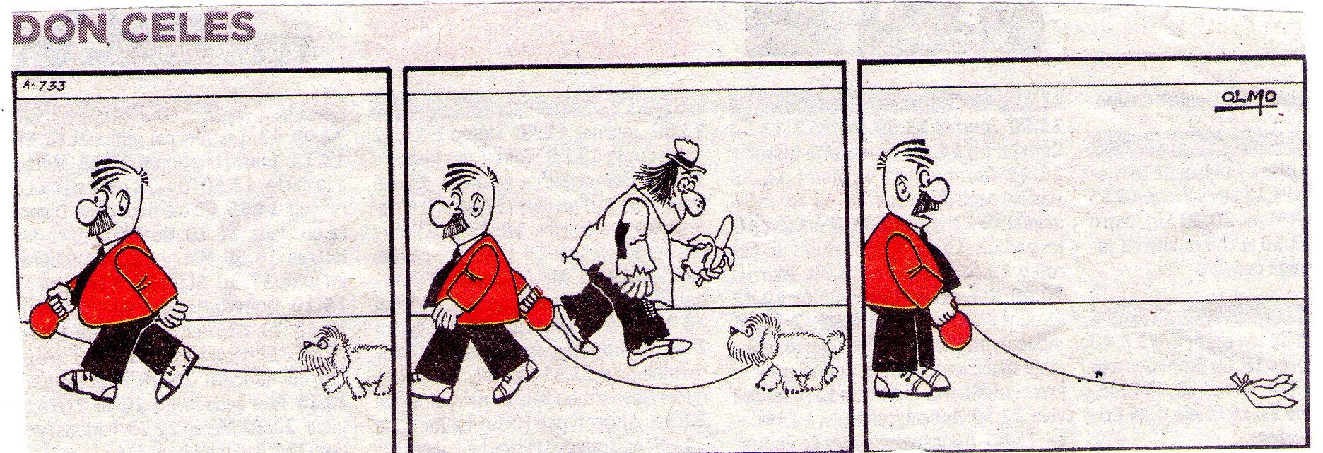 A Don Celes le dan plátano por perro