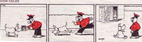El perro le lleva a Don Celes donde había estado el caco